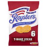 Roysters T-Bone Steak Multipack Crisps 6 Pack