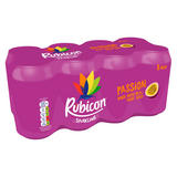 Rubicon Sparkling Passion Fruit Juice Drink 8x330ml