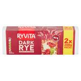 Ryvita Dark Rye Crunchy Rye Bread 2 x 200g