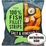 Iceland Made with 100% Fish Fillet Strips Salt & Vinegar 450g