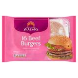 Shazans 16 Beef Burgers 840g