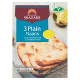 Shazans 3 Plain Naans 255g