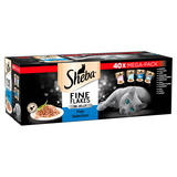 Sheba Fine Flakes Wet Cat Food Pouches Fish Collection in Jelly 40 x 85g