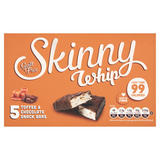 Skinny Whip Toffee & Chocolate Snack Bars 5 x 25g