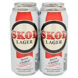 Skol Lager Beer 4x440ml