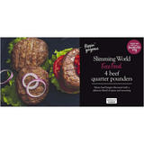 Slimming World 4 Beef Quarter Pounders 454g