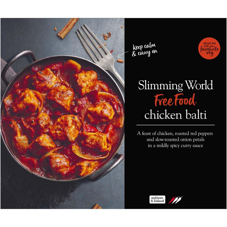 Slimming World Chicken Balti 500g Indian Iceland Foods
