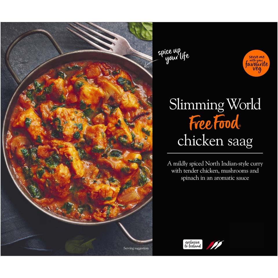 Slimming World Chicken Saag 500g Indian Iceland Foods