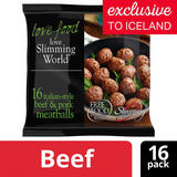 Slimming World Free Food 16 Italian Style Beef & Pork Meatballs 320g