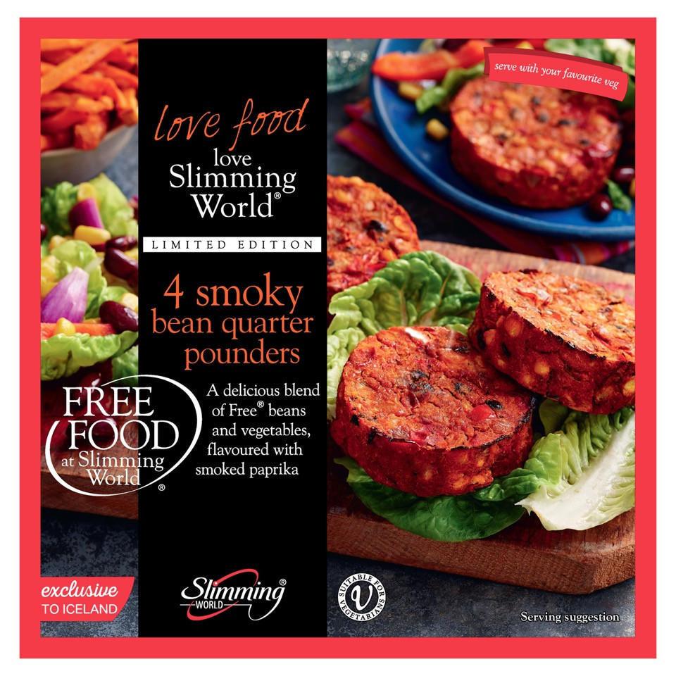 Slimming World Free Food 4 Smoky Bean Quarter Pounders 454g