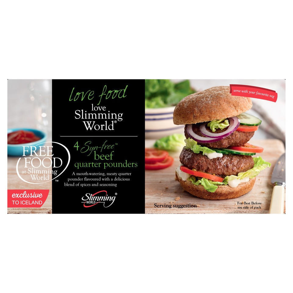Slimming World Free Food 4 Syn Free Beef Quarter Pounders