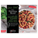 Slimming World Free Food Meatballs & Pasta with a Spicy Tomato Sauce 550g