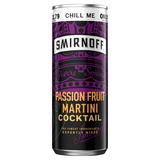 Smirnoff Passion Fruit Martini Cocktail 250ml Ready to Drink PMP £1.79 Premix Can