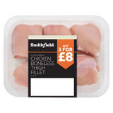 Smithfield Class A Fresh Chicken Boneless Thigh Fillet Skinless 500g