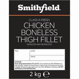 Smithfield Class A Fresh Chicken Boneless Thigh Fillet Skinless and Boneless 2kg