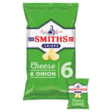 Smiths Cheese & Onion Crisps 6x25g