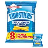 Smiths Chipsticks Salt & Vinegar Multipack Snacks 8x17g