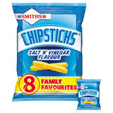 Smiths Chipsticks Salt & Vinegar Snacks 8 x 17g