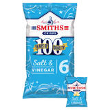 Smiths Salt & Vinegar Crisps 6x25g
