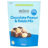 Snacking Essentials Chocolate Peanut & Raisin Mix 350g