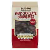 Snacking Essentials Dark Chocolate Cranberries 150g
