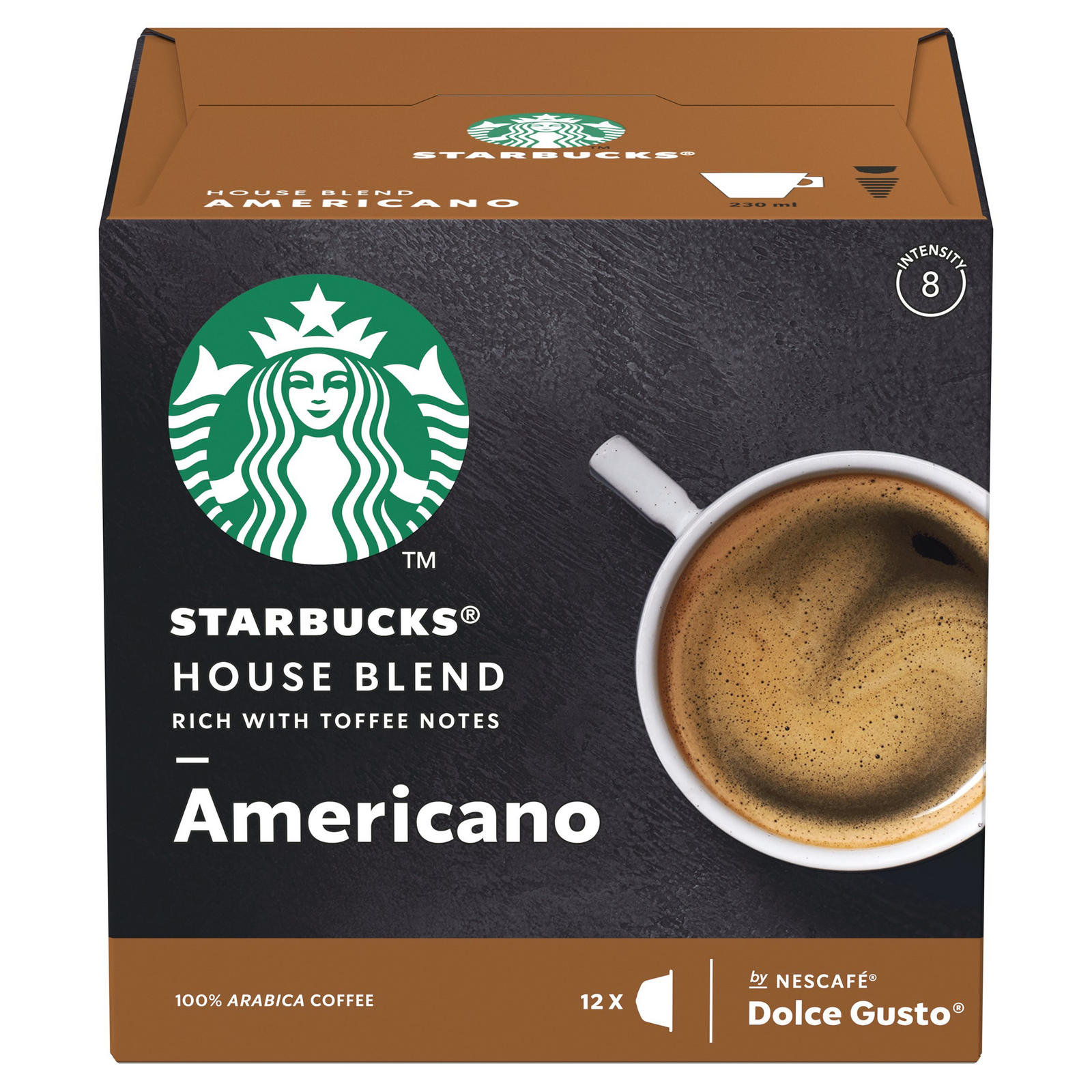 STARBUCKS by NESCAFÉ DOLCE GUSTO Americano House Blend ...