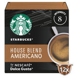 Starbucks by NESCAFÉ Dolce Gusto House Blend Medium Roast Coffee Pods 12 Pods Per Box