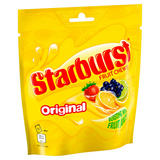 Starburst Original Fruit Chews Sweets Pouch Bag 152g