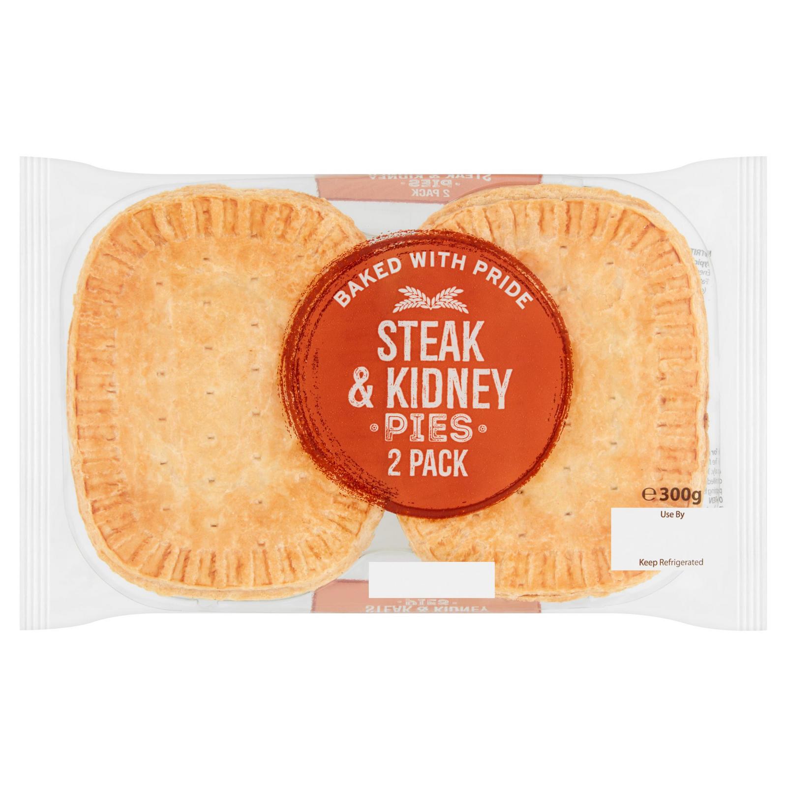 Steak & Kidney Pies 2 Pack 300g | Pies & Quiches | Iceland ...