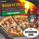Iceland Garlic Chicken Stonebaked Pizza 338g