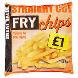 Straight Cut Value Fry Chips 1.5Kg