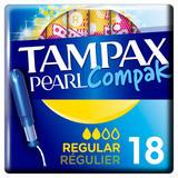 Tampax Pearl Compak Regular Tampons Applicator 18X