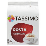 Tassimo Costa Cappuccino Coffee Pods x8
