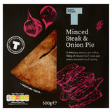 Tasty Foods Minced Steak & Onion Pie 500g