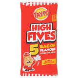 Tayto High Fives 5 Bacon Flavour Corn Snacks 5 x 20g (100g)