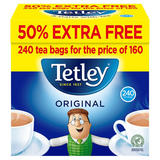 Tetley Plus 50% Free 160p Tea Bags