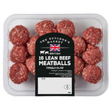 The Butcher's Market 16 Lean Beef Meatballs 400g