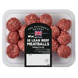 The Butcher's Market 16 Lean Beef Meatballs