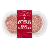 The Butchers Market 4 Quarter Pounder Beef Burgers 454g