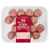 The Butcher's Market British 16 Beef Meatballs 300g