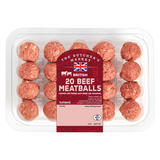 The Butcher's Market British 20 Beef MeatBalls
