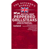 The Butcher's Market British Beef Peppered Grillsteaks 400g