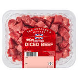 The Butcher's Market British Diced Beef 650g