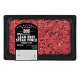 The Butcher's Market British Lean Beef Steak Mince Typically 5% Fat 400g