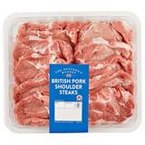 The Butcher's Market British Pork Shoulder Steaks 1.2Kg