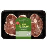 The Butcher's Market Lamb Leg Steaks 550g