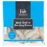 The Fish Market Whole Shell-On Raw King Prawns 225g