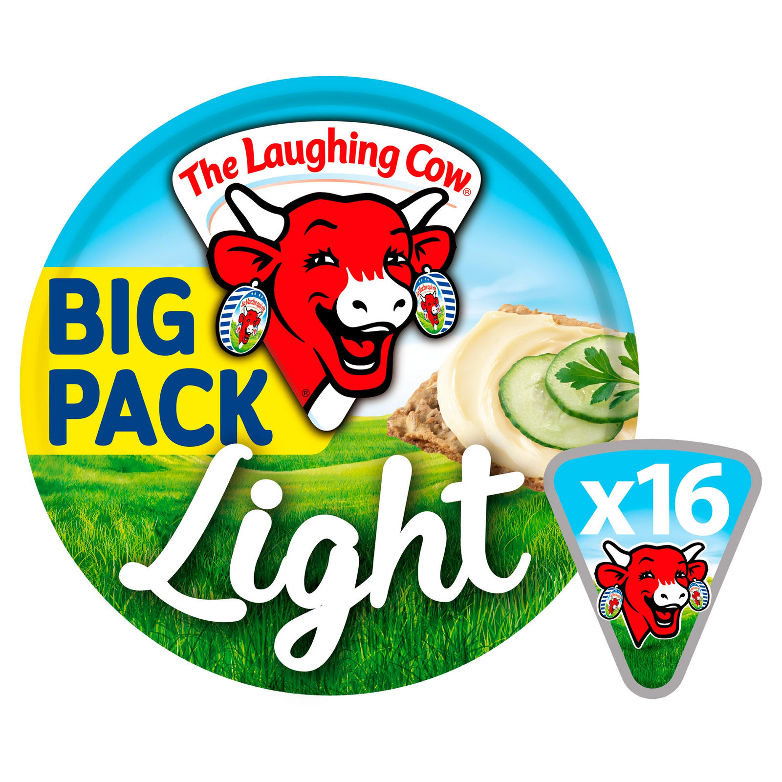 The Laughing Cow Light Spread Cheese 16 Triangles 280g Low Fat