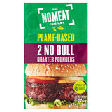 The No Meat Company Plant-Based 2 No Bull Quarter Pounders Burgers 2 x 113g (226g)