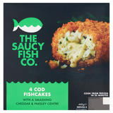 The Saucy Fish Co 4 Cod Fishcakes 440g